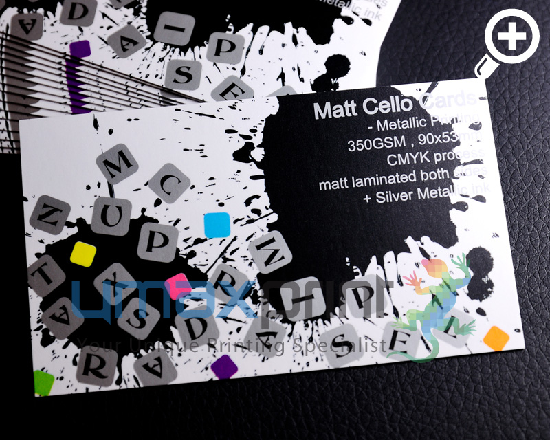matt cello business cards 350gsm print promo promo