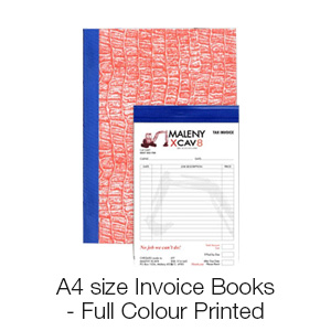 A4 size Invoice Books - Full Colour Print