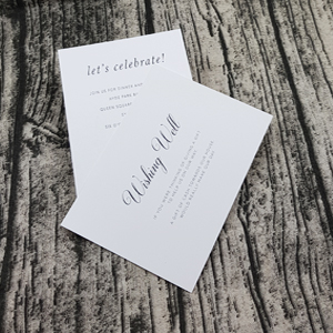 Wild Cotton Invitations - A6 size