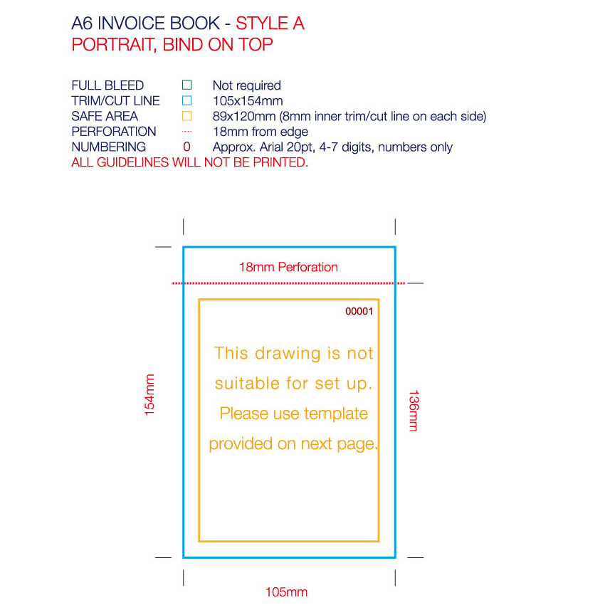 Invoice / Docket Books - A6/DL size