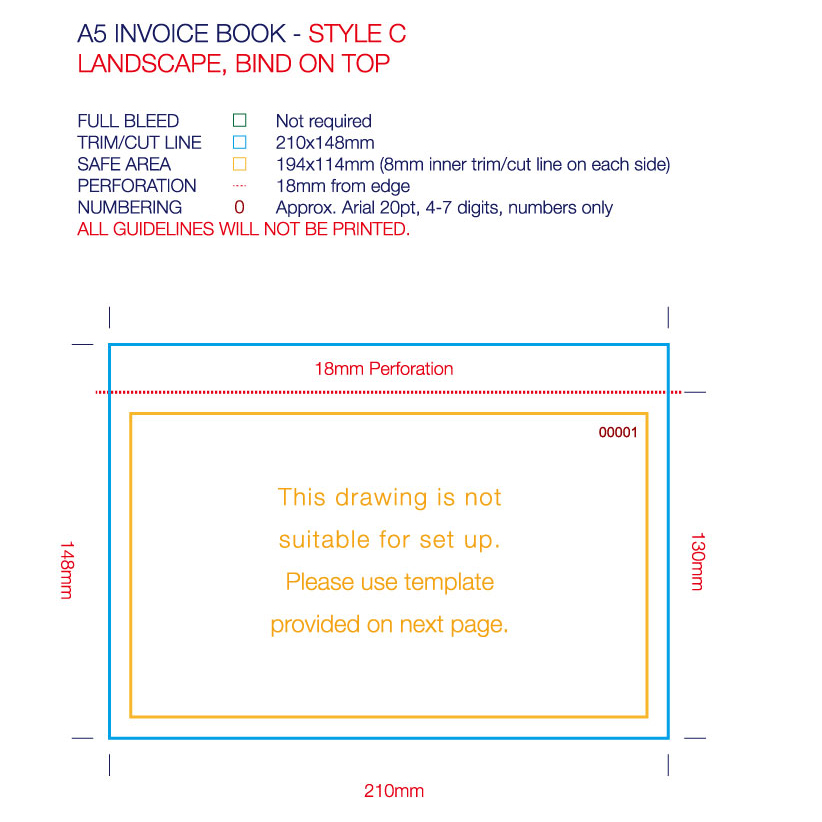 A5 size Invoice Books - Full Colour Print