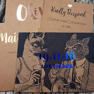 Vintage Kraft Invitation/ Certificates