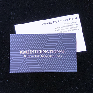 Velvet Business Cards - 350gsm