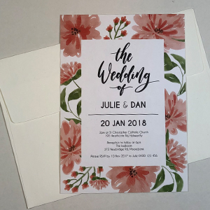 Matt Laminated Invites - A6/DL size