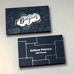Antique Black Business Cards