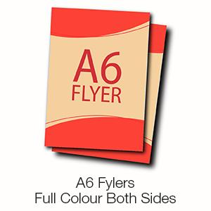 A6 Flyers - Full Colour Both Sides