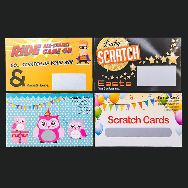Latex Scratch Off Cards