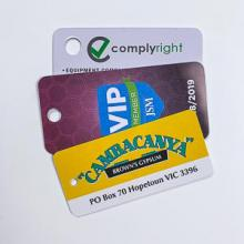 Plastic Key Tags -  0.76mm